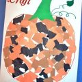 Mosaic Pumpkin Craft - fun fall crafts for kids