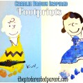 Charlie Brown Inspired Footprint Crafts - The Peanuts