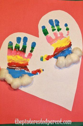 Hand print glove craft