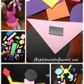 Make your own foam shape magnets for imagination play for kids.