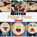 Mister Paper Plate Mask - Mask with interchangable felt pieces. Fun Crafts for kids.