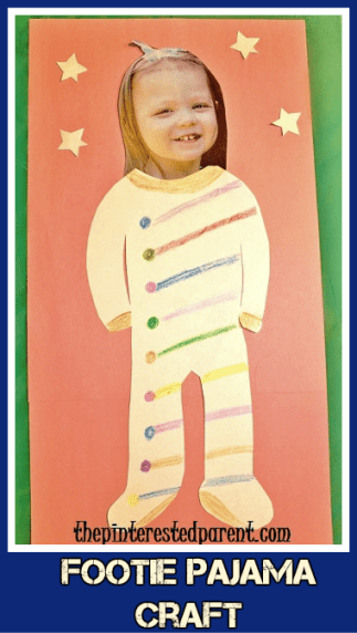 Footed pajama craft for kids