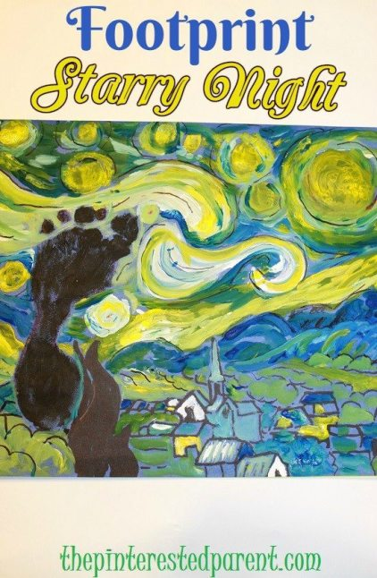 Footprint Starry Night - a work of art out of a child's foot
