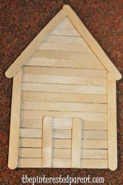Craft stick house