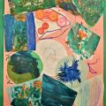 Kid's Collage Project using mixed media - painting & process art