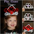 Pipe Cleaner Tiaras for princess play