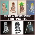 Star Wars Inspired Footprint crafts