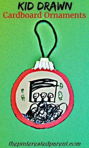 Kid Drawn Cardboard Ornaments