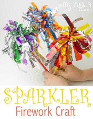Sparkler Firework Craft from Kid's Craft Room