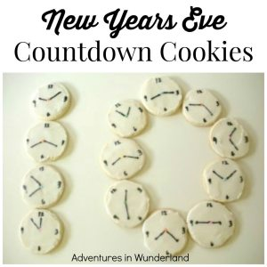 New Year's Eve Countdown Cookies by Adventures in Wunderland