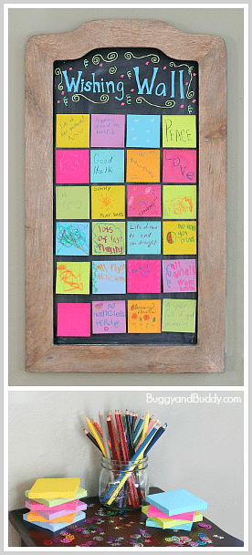 New Year's Wishing Wall by Buggy and Buddy