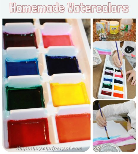Homemade Watercolor Paints with household ingredients