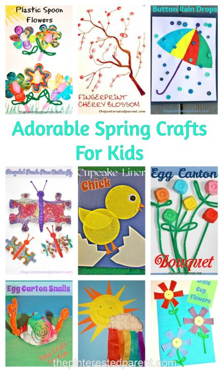 Adorable & easy spring crafts for kids