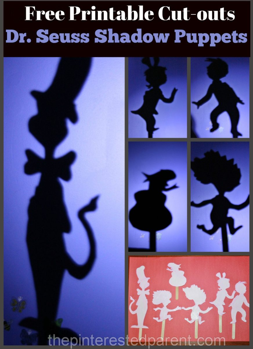Dr. Seuss Shadow Puppets (Free Printable Cut-outs)