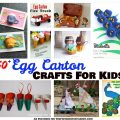 50+ egg carton arts & crafts activities for kids - holidays, animals, flowers & more.