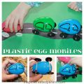 A great way to use up those left over- make Easter Plastic Egg Cars - the kids will love these