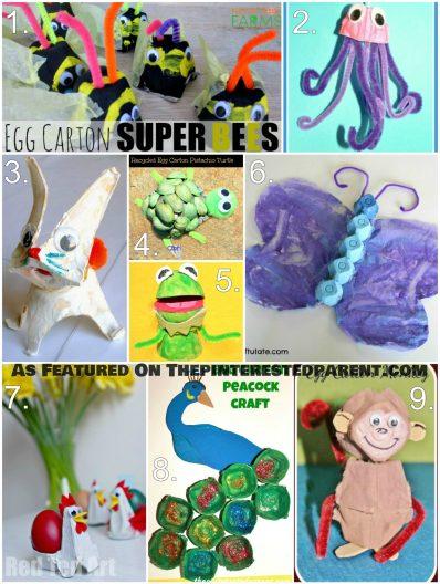 Egg Carton Animal Crafts For Kids