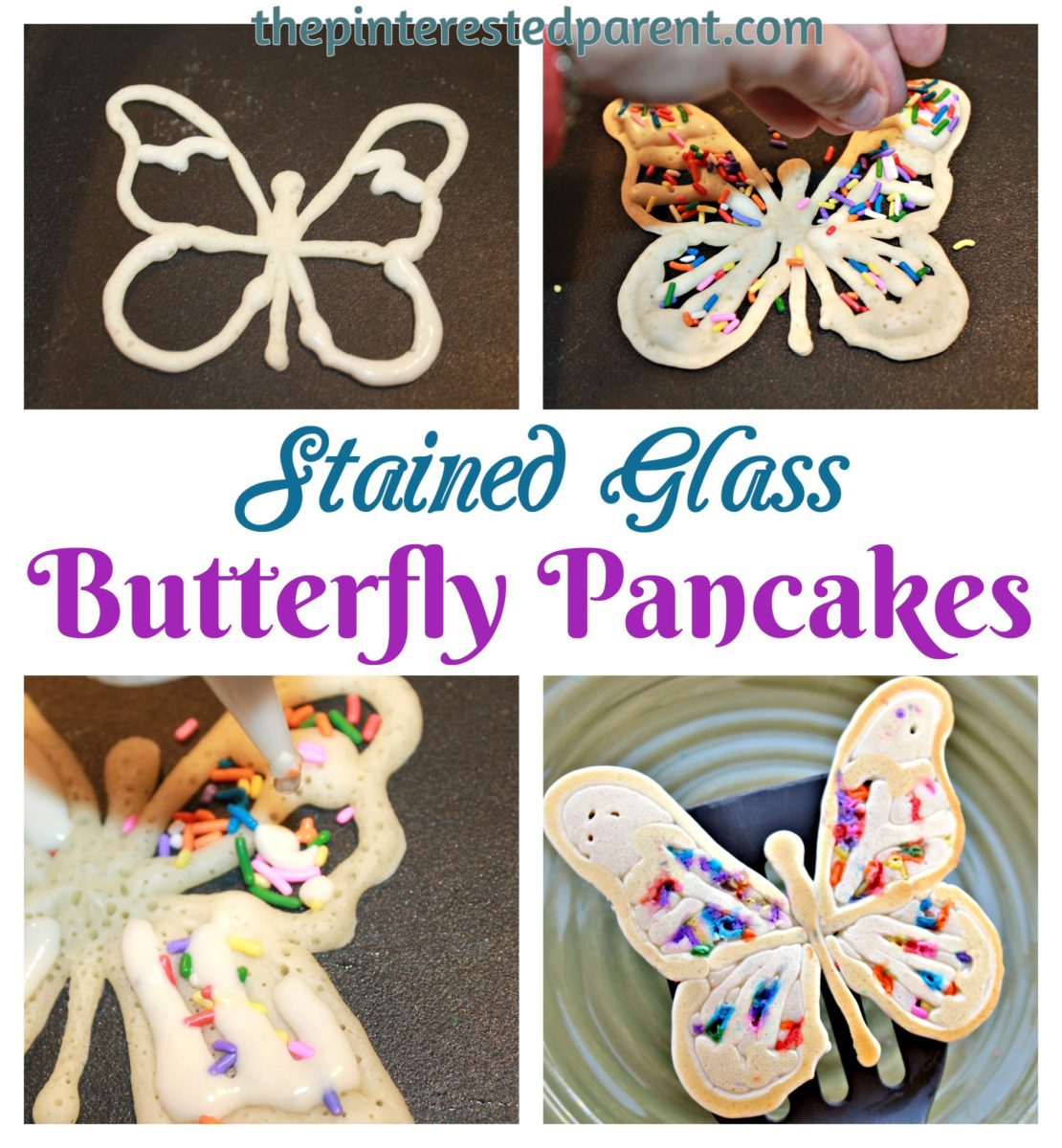 Stained Glass Butterfly Pancakes