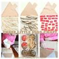 Three Little Pigs kid's Craft - Build a straw, stick & brick house