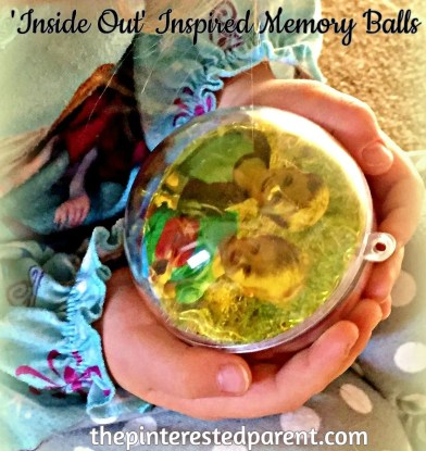 This Memory Ball Ornament is inspired by the movie 'Inside Out' A simple and easy craft to make for your kids with their favorite photo memories!