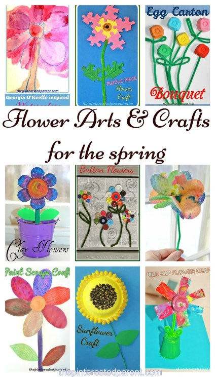 9 Flower arts & crafts projects for kids for the spring and summer
