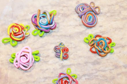 Roll & Wrapped Polymer Clay Pendant Charms - an easy & fun to make jewelry arts & craft project. Great for kids, teens or adults to make. Cute gift idea