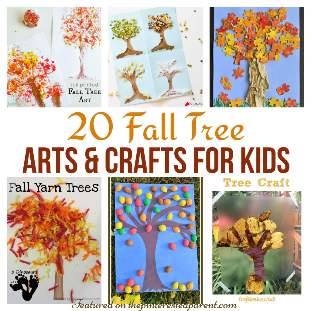 Art Craft Ideas 20 Fall Tree Arts Crafts Ideas For Kids The Pinterested Parent