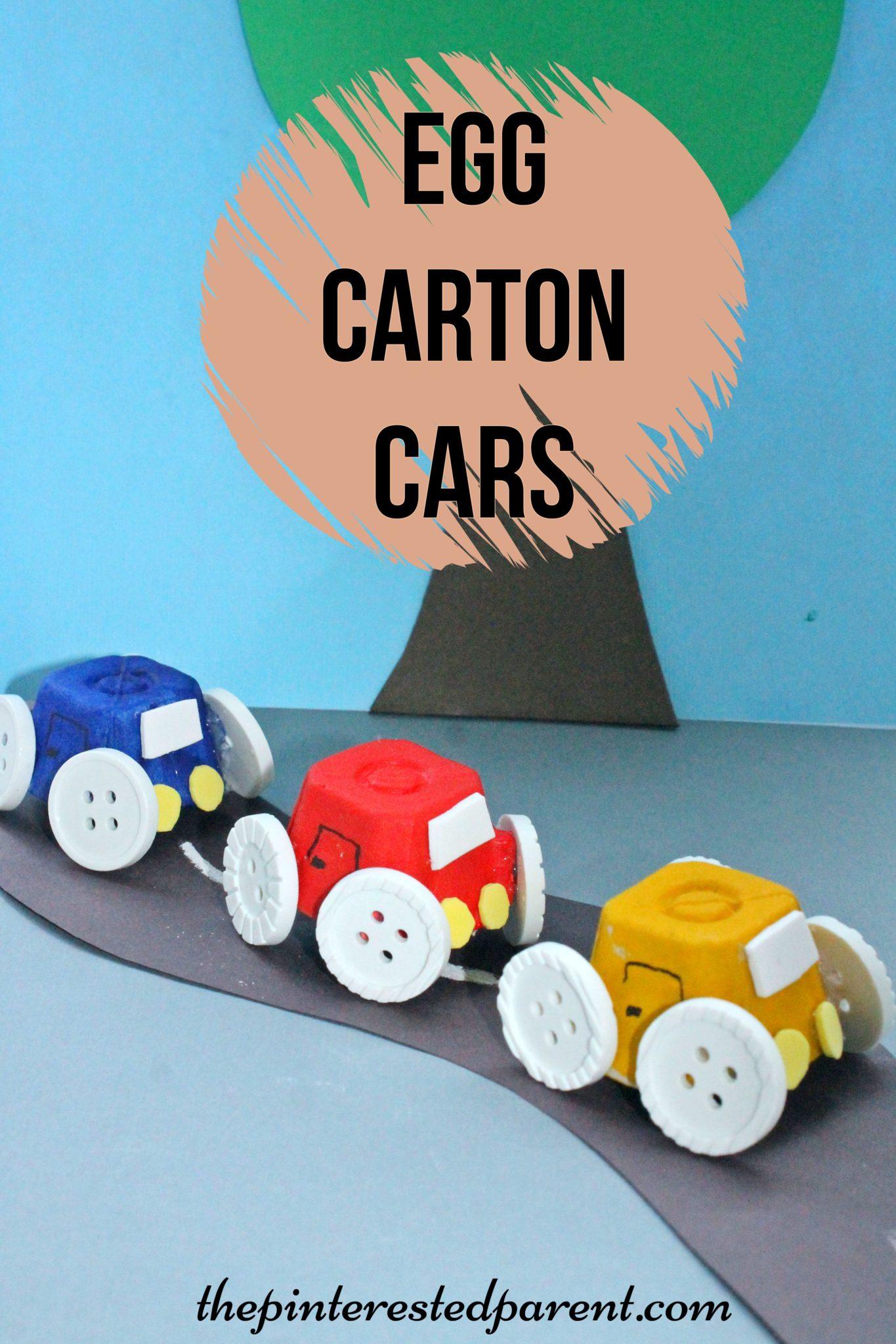 egg carton cars