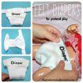 Felt diapers for dolls & pretend play - kid's life skills - arts & crafts