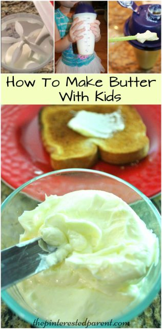 How to make homemade butter. Cooking with the kids - easy & fun to make with the family. Butter recipe.