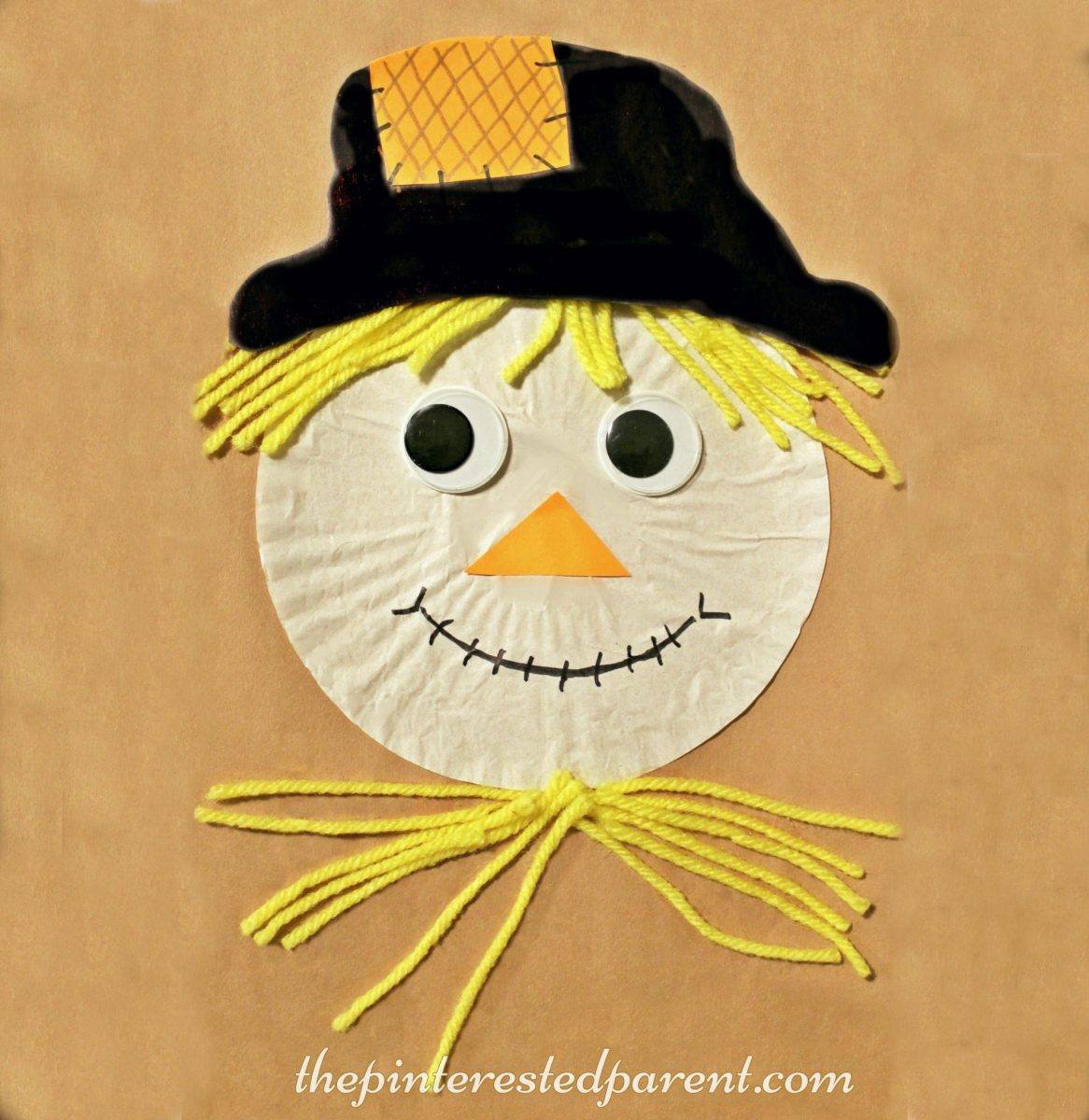 Cupcake Liner Scarecrow