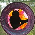 paper plate owl silhouette suncatcher - tissue paper arts crafts - fall and autumn and halloween projects