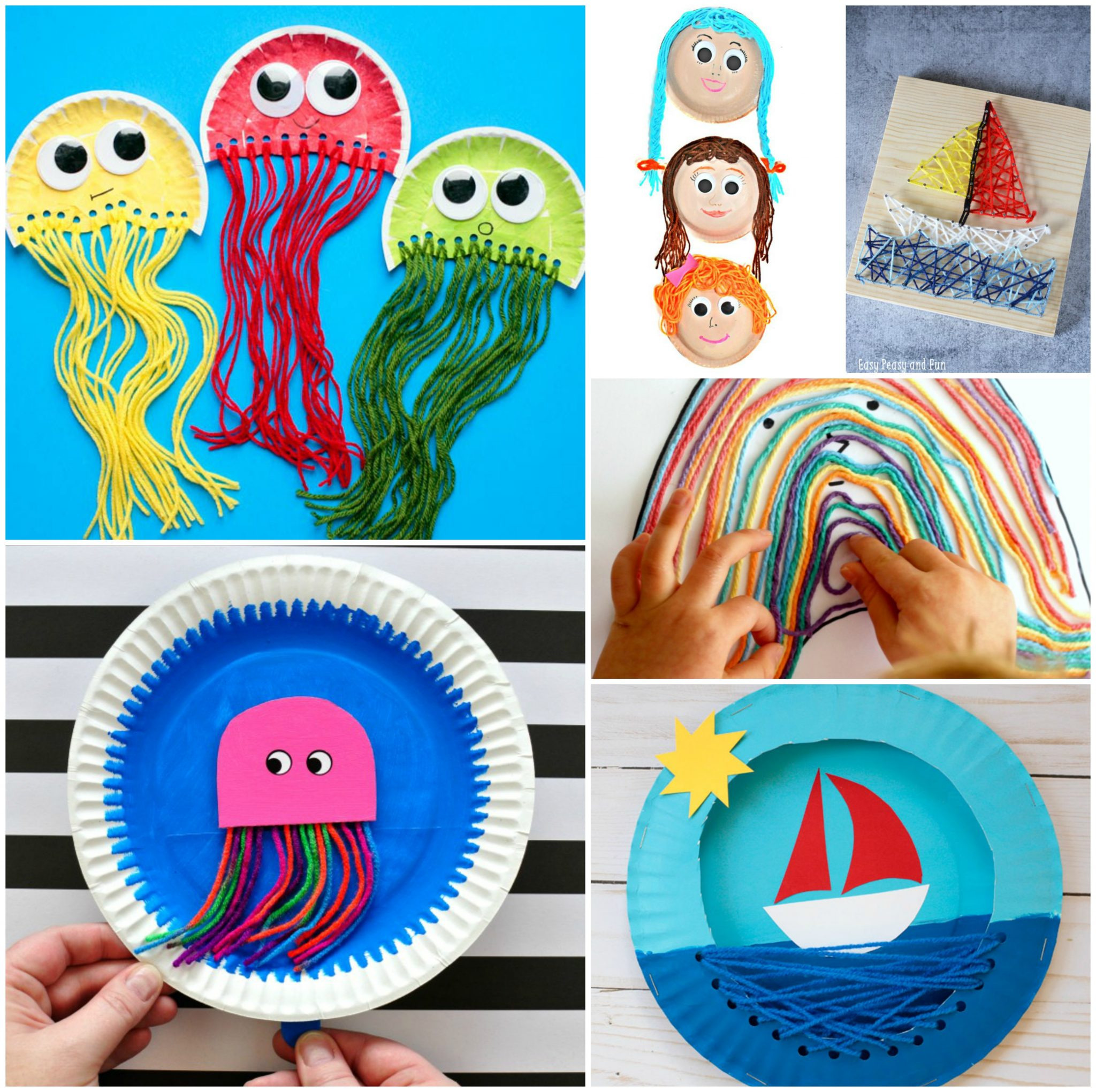 Art And Craft For Preschool 40 Fun Fantastic Yarn Crafts The Pinterested Parent