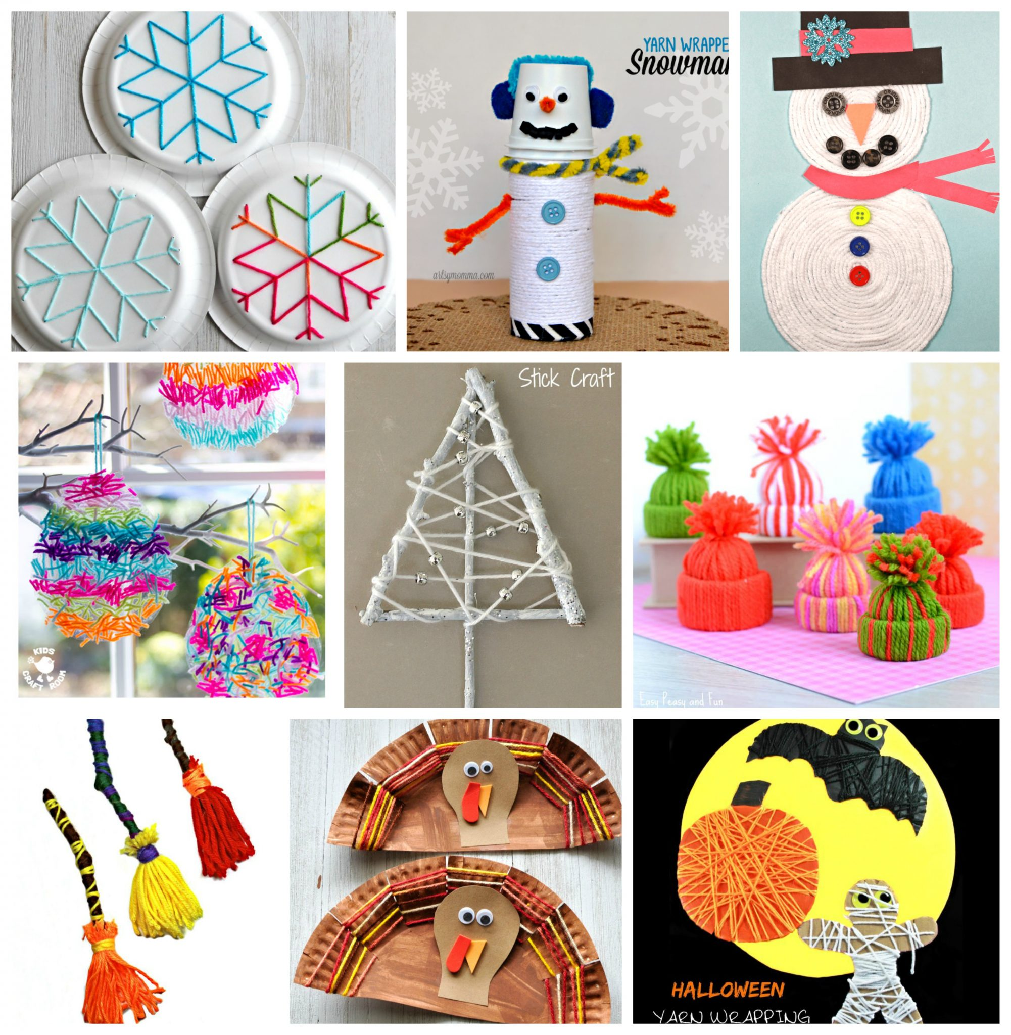 Art Craft Ideas 40 Fun Fantastic Yarn Crafts The Pinterested Parent