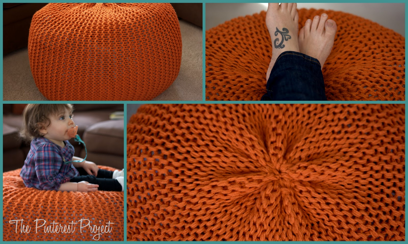 Knitted Furniture Pouf A New Coffee Table The Pinterest Project