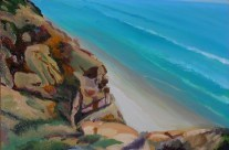 Landscape Oil Painting of La Jolla Coastline