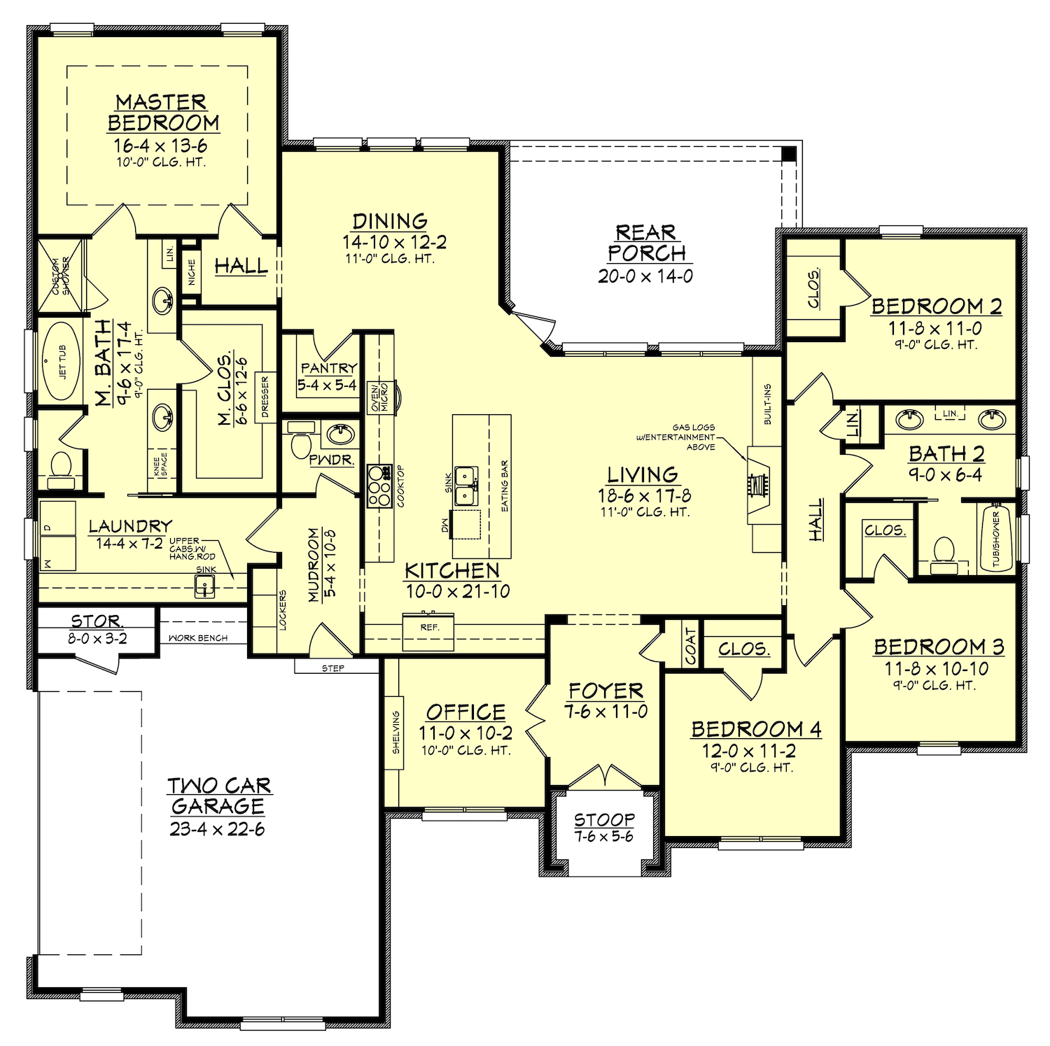 Bedroom Floor Layout 4 Bedrm 2506 Sq Ft European House Plan 142 1162