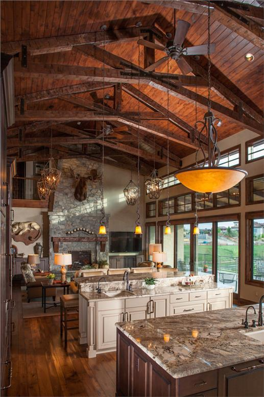 plan great room connects kitchen dining living areas kitchen house plans beautiful large gourmet kitchen house plans large