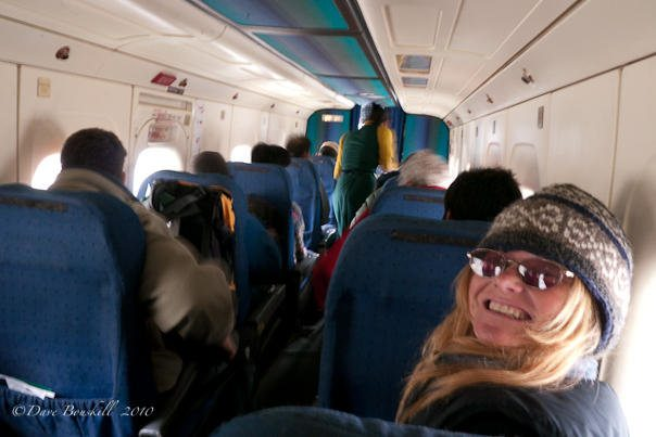 sunglasses on an airplane