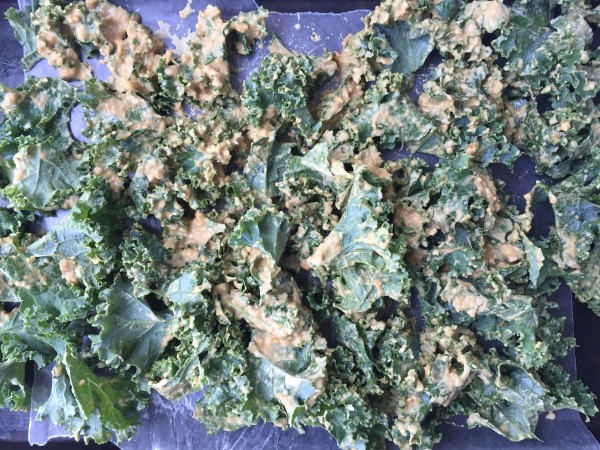 Kale Chips in the Making