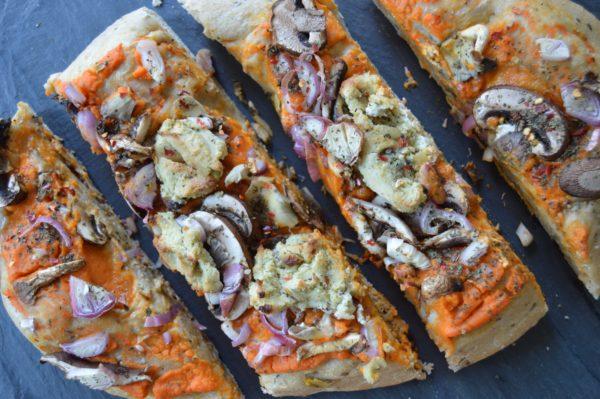 sweet potato mushroom pizza