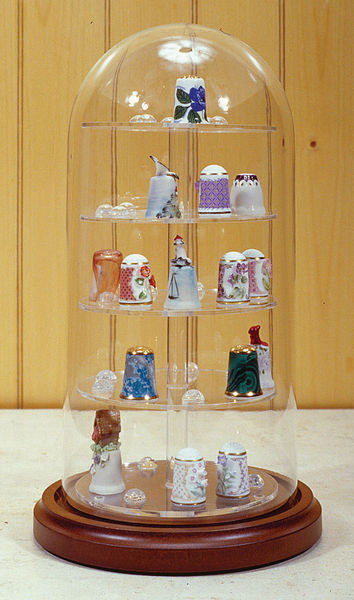 Glass Dome With Base Doll Cases, Doll Stands, Glass Thimble Domes, Flag Cases