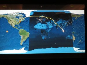 Almost there according to our flightpath tracker!