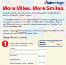 100 Free American AAdvantage Miles With Facebook Sign-up