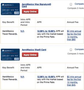 Aeromexico Cards
