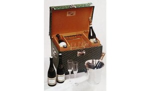 Nothing says over-the-top luxury like a Goyard champagne trunk.