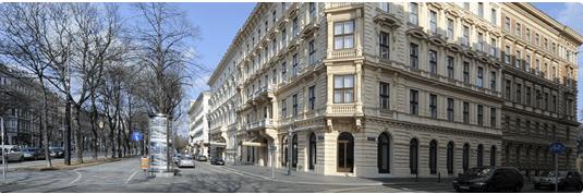 The exterior of the Ritz-Carlton Vienna.