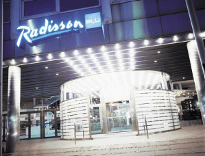 Entrance to the Radisson