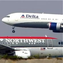 The Delta Northwest merger created the world's largest airline at the time.