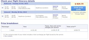An economy ticket in October will cost you just $830 roundtrip.